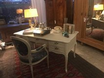 Beautiful solid oak Louis XV style desk with matching chair in Stuttgart, GE