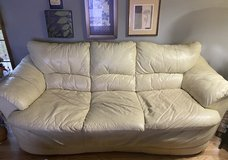 Italian White couch & loveseat in Batavia, Illinois