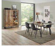 United Furniture - Dining Set Ikaro - China with Lights- Table - 4 Chairs including delivery in Ansbach, Germany
