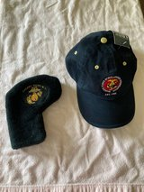 Marine Corps Golf cap and Putter cover  (Reduced Price) in Cherry Point, North Carolina