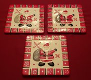 3 New Ceramic Santa Trivets with Hangers in Naperville, Illinois