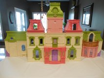 Large Green Roof Doll House W/Furniture and Doll Figures in Sandwich, Illinois
