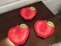 Set of 3 Apple Appetizer Plates from Sur la Table - Small Chips in Westmont, Illinois