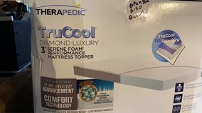 "3"" Serene Foam Therapedic Tru Cool King Size Mattress Topper in Beaufort, South Carolina"