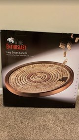"""WINE ENTHUSIAST LAZY SUSAN CORK KIT. 24"""" CIRCUMFERENCE. NEW, RETAIL $129.95. JUST ADD YOUR OWN C... in Aurora, Illinois"""