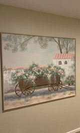 """BEAUTIFUL SIGNED HAND PAINTED CANVAS PICTURE, LARGE PAINTING 60""""x48.5"""", EXCELLENT CONDITION. in Aurora, Illinois"""