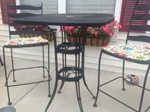 Outside bar height table and 2 chairs in Sandwich, Illinois