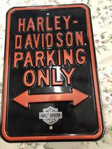 Harley Parking sign in Fairfield, California