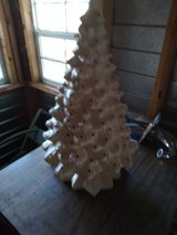 Ceramic Christmas tree in Beaufort, South Carolina