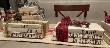 Handmade stamped books W/Christmas and winter sayings in Elgin, Illinois