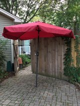 Red Patio Umbrella in St. Charles, Illinois