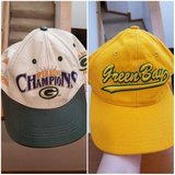 GREEN BAY PACKERS GENUINE LEATHER HAT SIX PANEL SNAPBACK CAP SUPER BOWL XXXI in DeKalb, Illinois