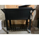 Black Furniture Style Rolling Patio Cooler in Kingwood, Texas