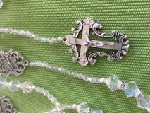 Lasso Wedding Rosary NEW Wedding Ring Middles Matching Crucifix Czech Crystal Faceted Beads Long... in Kingwood, Texas