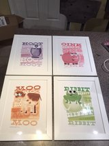 Set of 4 Framed Prints for Baby/Toddler Room in Plainfield, Illinois