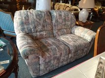 Muted Tone Pattern Reclining Loveseat in Bartlett, Illinois