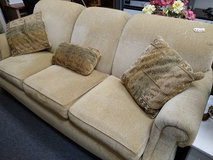 Bassett Tan on Tan Textured Sofa in Bartlett, Illinois
