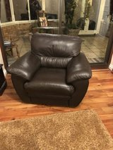 Italian leather One seater in Lakenheath, UK