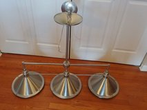 3-light Chandelier Island Pool Table Light Polished Chrome Nickel in Oswego, Illinois