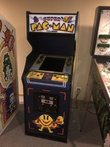Super Pac-Man 1982 Arcade Game with 60 Games by Bally Midway in St. Charles, Illinois