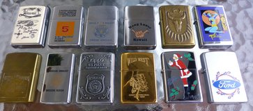ZIPPO LIGHTERS COLLECTION (12) USED FIRED in Wiesbaden, GE