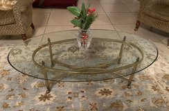Brass & Glass Oval Coffee Table in Ramstein, Germany