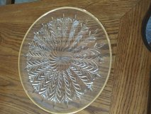 Gold Rimmed Cutglass Platter in Orland Park, Illinois