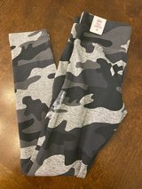 Brand New! Gray Camo Justice Leggings in Aurora, Illinois