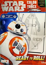 NEW Disney STAR WARS BB Ready to Roll Color * Trace Coloring Activity Book w Stickers in Plainfield, Illinois