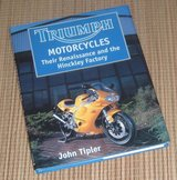 Vintage 1997 Triumph Motorcycles Their Renaissance & Hinkley Factory Hard Cover Book w Dust Jacket in Morris, Illinois