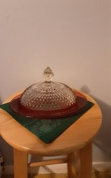 Vintage Indiana glass butter dish in Kingwood, Texas