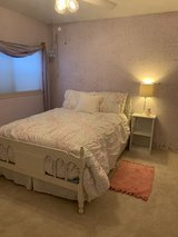 Full size bed new mattress and comforter in The Woodlands, Texas