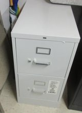 2 Matching HUN 2 door Filing Cabinets - Letter Size, Steel, off white - Clean in Conroe, Texas