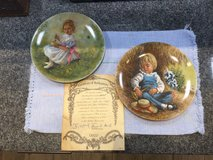 Reco Little Miss Muffet Collectors Plate 1981 With COA  and Reco Little Boy Blue in Baumholder, GE