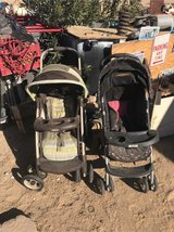 two strollers $25each good condition was clean but sit outside in 29 Palms, California