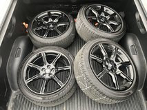 Ford Mustang Black Accent Wheels and Tires in Grafenwoehr, GE