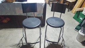 Two Black Plastic Barstools in Aurora, Illinois