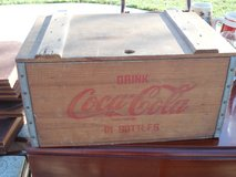 Vintage Wooden Coca Cola Crate in Sandwich, Illinois