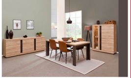 United Furniture - Marco Dining Set in French Oak including delivery in Spangdahlem, Germany