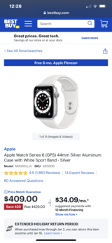 LIKE NEW...Apple Watch Series 6 With GPS 44mm in Kingwood, Texas