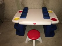Step 2 Lego Desk with Stool in Yorkville, Illinois