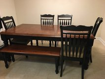 Kitchen table with 5 chairs and bench in Camp Lejeune, North Carolina