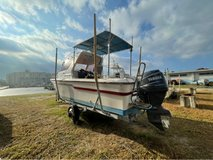 Yamaha outboard motor 115 horsepower fishing boat in Okinawa, Japan