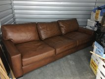 Extra large leather couch in Cherry Point, North Carolina