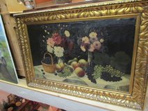 Oil painting still life painting gold frame in Ramstein, Germany