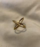 Gold Tone Fashion Mid Cross Ring in Okinawa, Japan