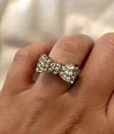 Silver Tone Rhinestone Bow Fashion Ring in Okinawa, Japan