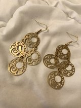 Gold Tone Drop Fashion Earrings in Okinawa, Japan