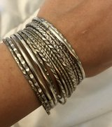 Silver Tone Fashion Bangle Bracelet Set in Okinawa, Japan