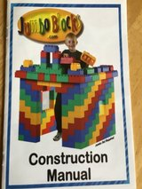 100 + Plastic building blocks with manual in Plainfield, Illinois